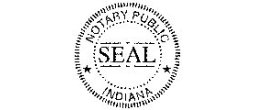 Indiana Notary Seal