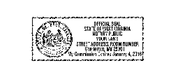 WV SEAL - West Virginia Notary Seal